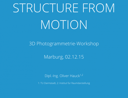 Structure from Motion Workshop bei Foto Marburg