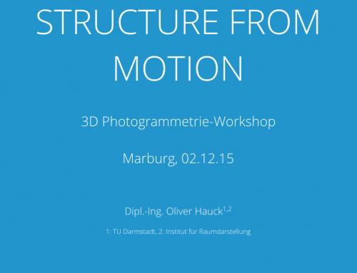 Structure from Motion Workshop bei Foto Marburg